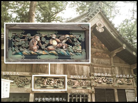 日光東照宮 見猿言わ猿聞か猿