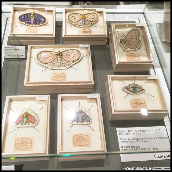 ラムフロム HINKA RINKA 銀座店:坂田あづみさんの新作mothブローチも登場です☆