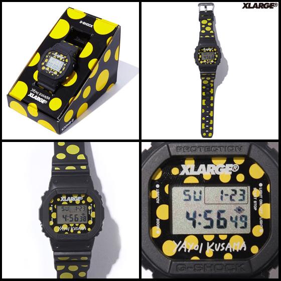 【新商品】草間彌生腕時計「XLARGE(R) X YAYOI KUSAMA X G-SHOCK DW-5600」