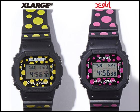 草間彌生 腕時計「X-girl×KUSAMA YAYOI×G-SHOCK DW-5600」もありますよ☆