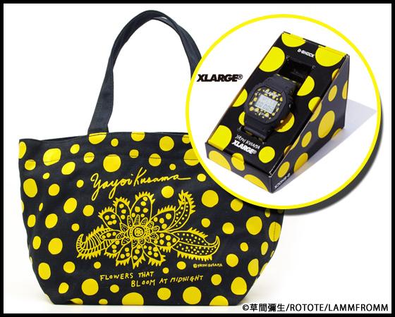 【新商品】草間彌生 G-SHOCK DW-5600とラムフロム限定カラーの草間彌生バッグのセットです☆