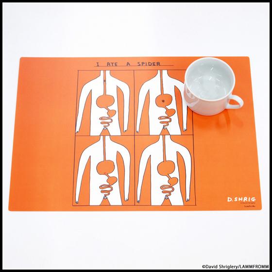 【ラムフロムオリジナル】デイヴィッド・シュリグリー ランチョンマット(オレンジ)