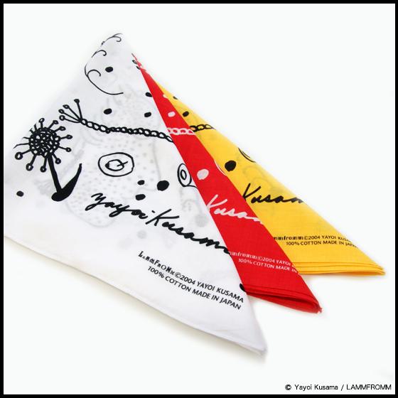 【ラムフロム HINKA RINKA 銀座店】ラムフロムオリジナル「草間彌生 バンダナ」母